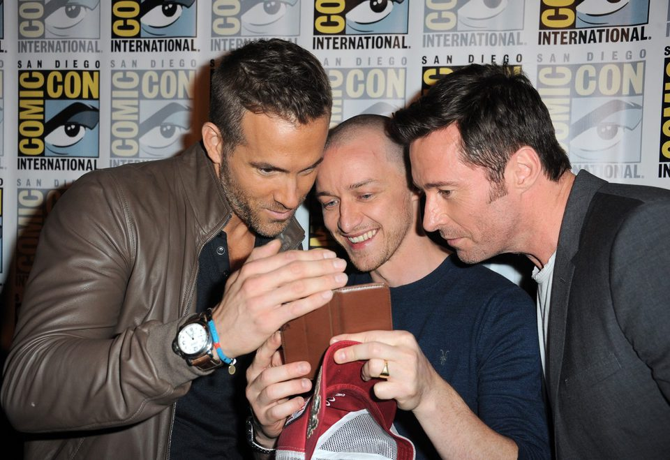 Ryan Reynolds, James McAvoy y Hugh Jackman en la Comic-Con 2015