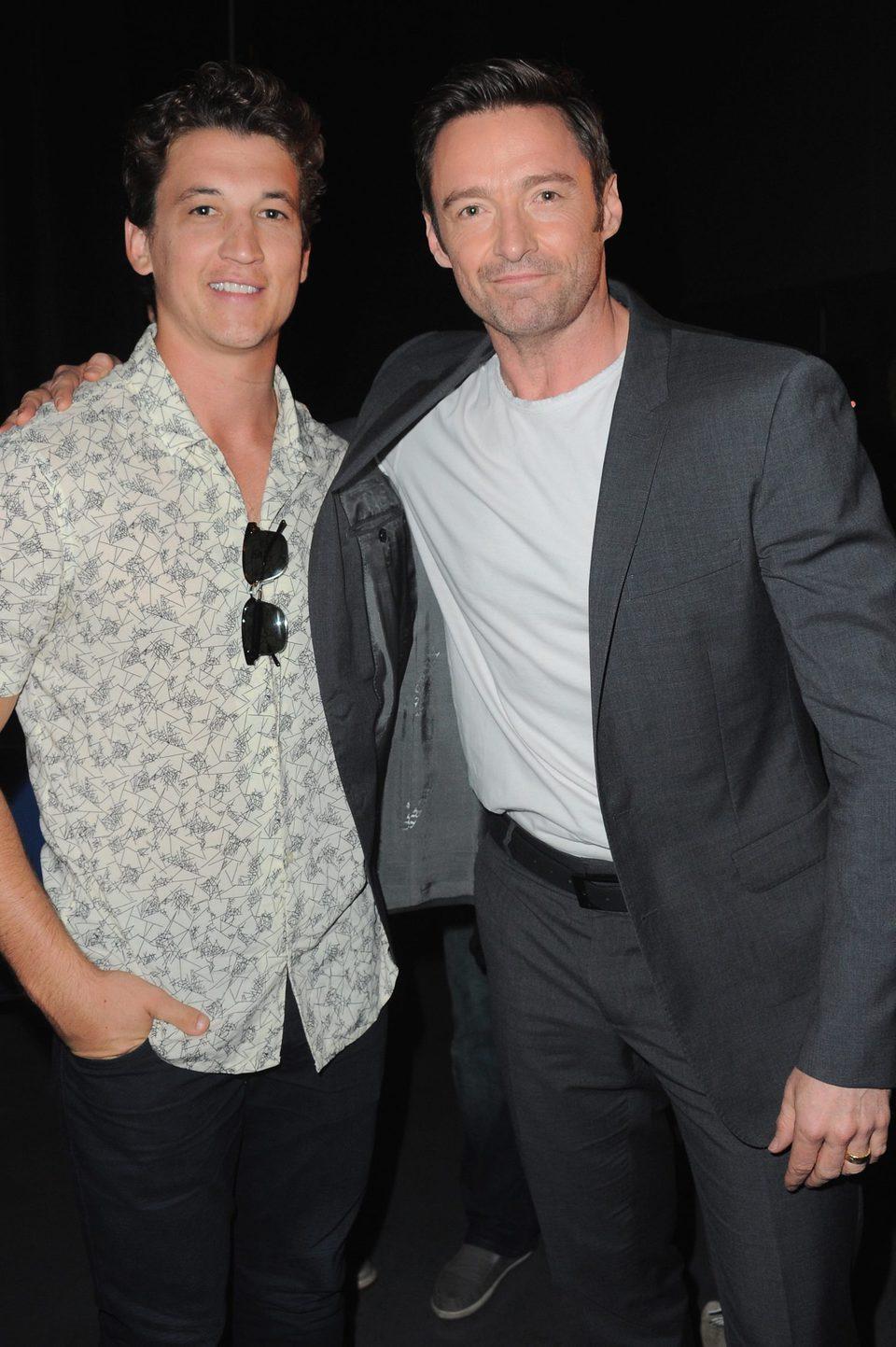 Miles Teller y Hugh Jackman en la Comic-Con 2015
