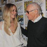 Jennifer Lawrence y Stan Lee en la Comic-Con 2015