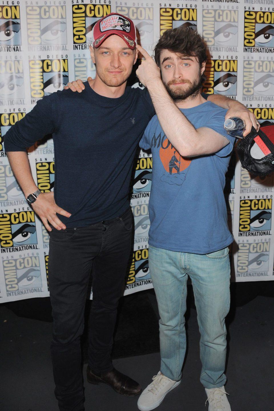 James McAvoy y Daniel Radcliffe en la Comic-Con 2015