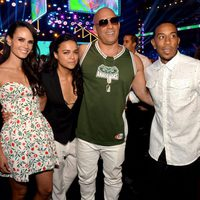 Actors Jordana Brewster, Michelle Rodriguez, Vin Diesel and Ludacris attend the Teen Choice Awards 2015