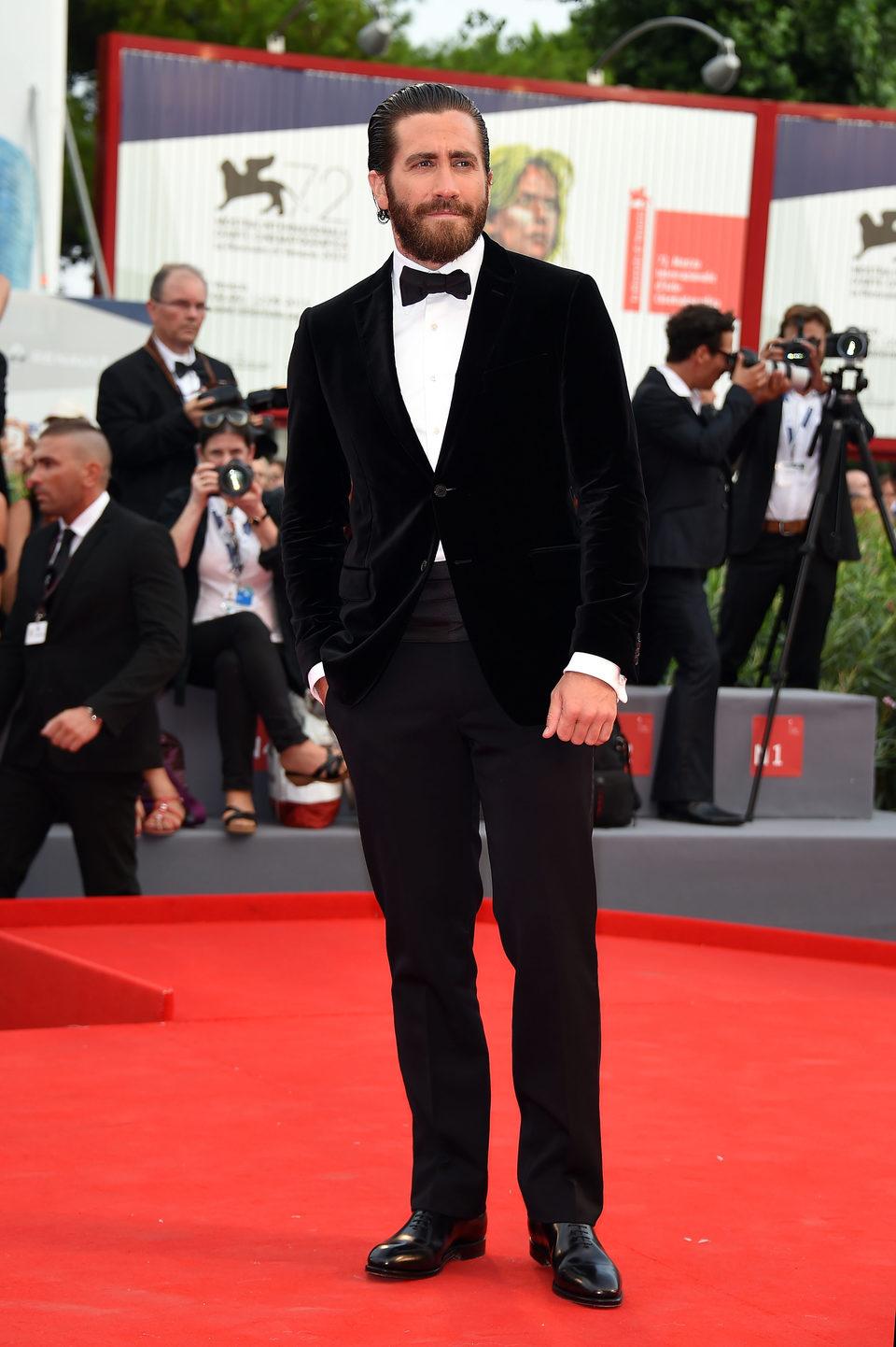 Jake Gyllenhaal en la presentación de 'Everest' en la 72ª edición del Festival de Venecia