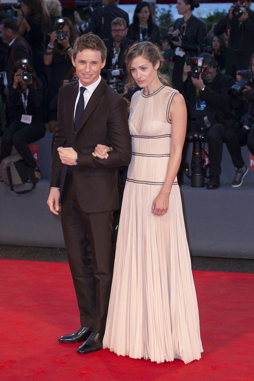 Eddie Redmayne y Hannah Bagshawe en la 72ª edición del Festival de Venecia