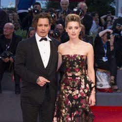 Johnny Depp y Amber Heard en la 72ª edición del Festival de Venecia