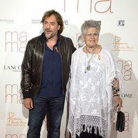 Javier Bardem y Pilar Bardem en la premiere de 'Ma ma' en Madrid