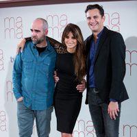 Luis Tosar, Penélope Cruz y Asier Etxeandia en la presentación de 'Ma ma' en Madrid