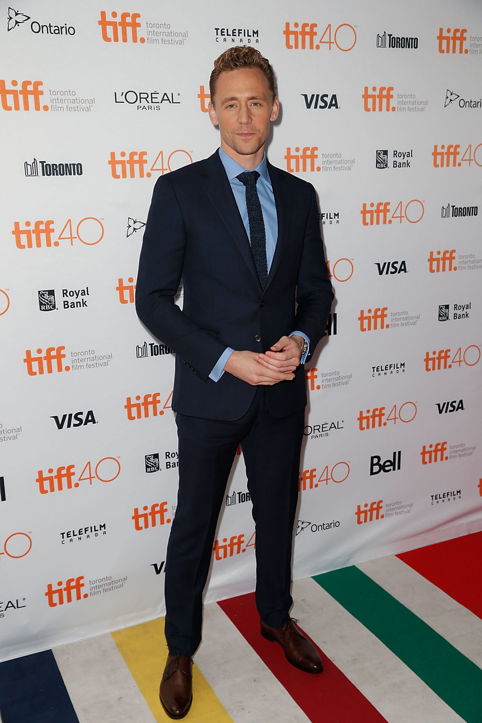 Tom Hiddleston en el Festival de Toronto 2015
