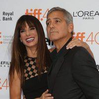 Sandra Bullock and George Clooney at the Toronto International Film Festival 2015