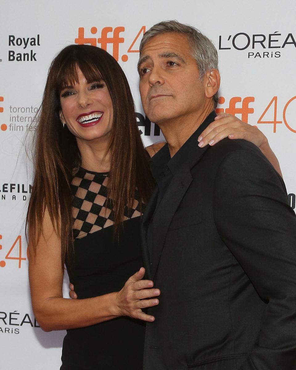 Sandra Bullock y George Clooney en el Festival de Toronto 2015