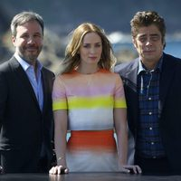 Denis Villenueve, Emily Blunt and Benicio del Toro at the San Sebastian Film Festival 2015