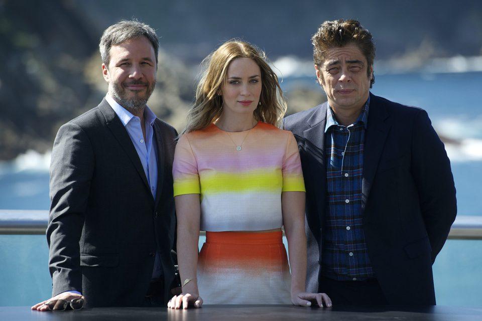 Denis Villenueve, Emily Blunt y Benicio del Toro en el Festival de Cine de San Sebastián 2015