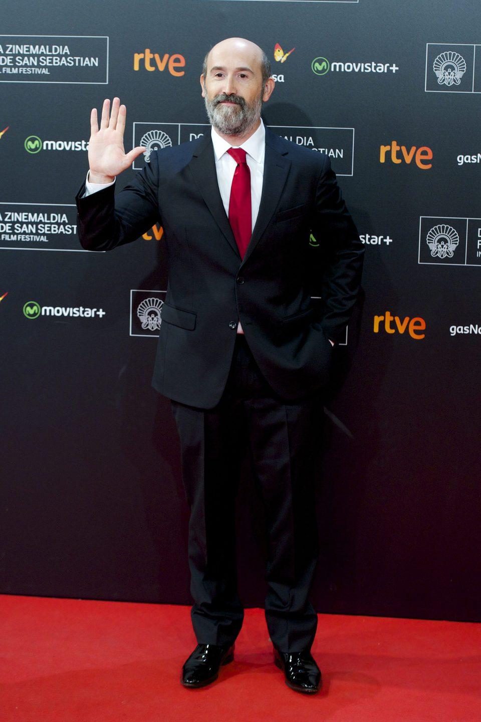 Javier Cámara posa en el Festival de Cine de San Sebastián 2015