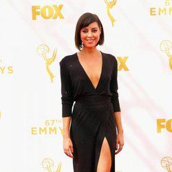 Aubrey Plaza en la alfombra roja de los Premios Emmy 2015
