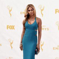 Laverne Cox en la alfombra roja de los premios Emmy 2015