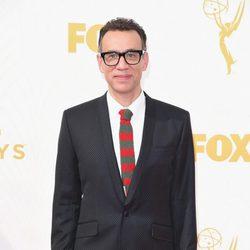 Fred Armisen en la alfombra roja de los Premios Emmy 2015