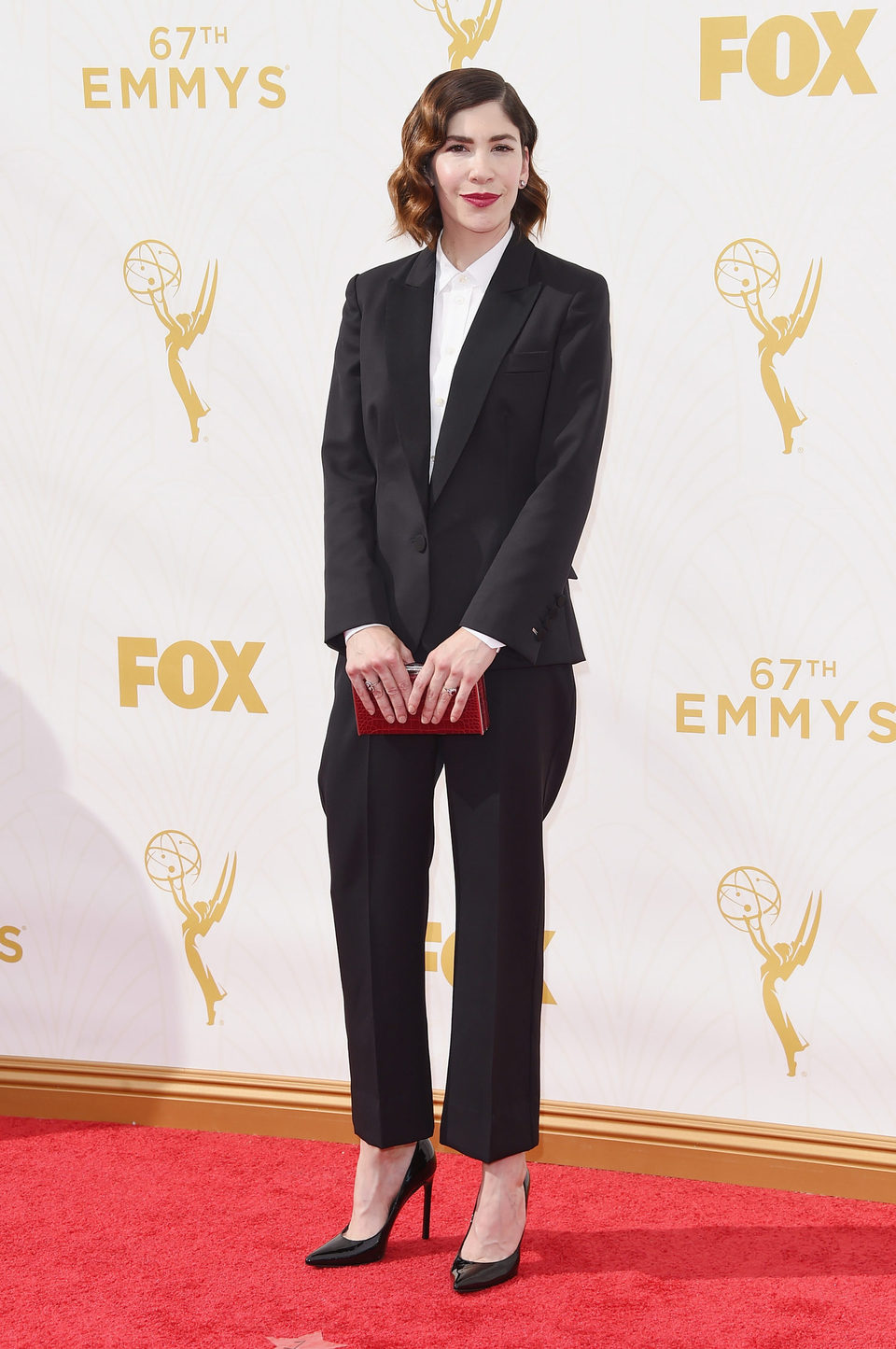 Carrie Brownstein en la alfombra roja de los Premios Emmy 2015