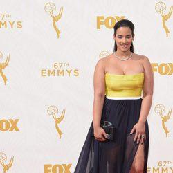 Dascha Polanco en la alfombra roja de los Emmy 2015