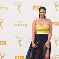 Dascha Polanco at the red carpet at the 2015 Emmys