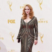 Christina Hendricks at the 2015 Emmys red carpet