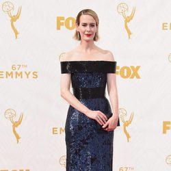 Sarah Paulson en la alfombra roja de los premios Emmy 2015