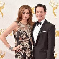 Kyle MacLachlan, Desiree Gruber at the 2015 Emmy Awards red carpet