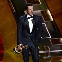 Jon Hamm receiving the 2015 Emmy Award