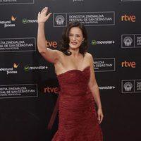 Aitana Sánchez Gijón asiste a la ceremonia de clausura de la alfombra roja de la 63ª edición del Festival Internacional de Cine de San Sebastián