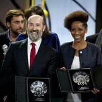 Javier Cámara, Concha de Plata al mejor actor por la película 'Truman' y Yordanka Ariosa, Concha de Plata a la mejor actriz por la película 'El Rey de la H