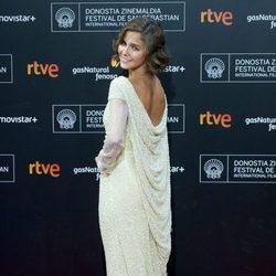Natalia Sánchez asiste a la alfombra roja de la 63ª ceremonia de clausura del Festival de Cine de San Sebastián
