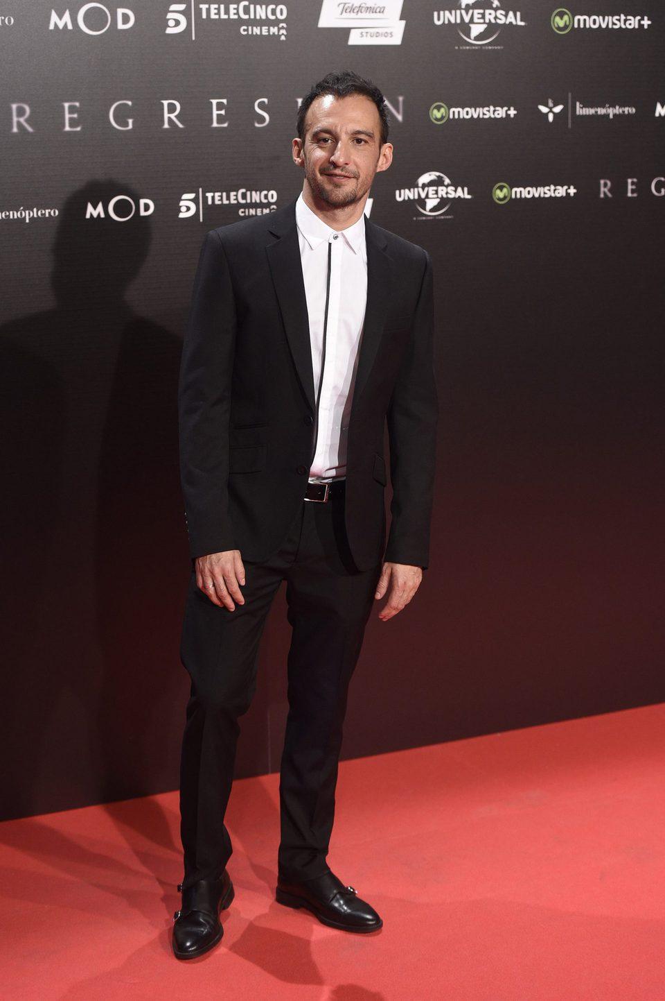 Alejandro Amenábar en la Premiere de 'Regresión' en Madrid