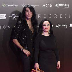 Mario Vaquerizo y Alaska en la Premiere de 'Regresión' en Madrid
