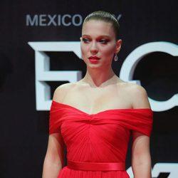 Lea Seydoux en la premiere de 'Spectre' en Mexico