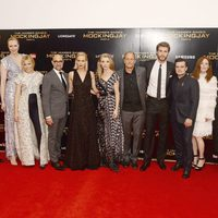 El reparto de 'Los Juegos del Hambre: Sinsajo - Parte 2' en la premiere londinense