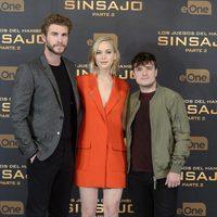 Liam Hemsworth, Jennifer Lawrence y Josh Hutcherson presentan 'Los Juegos del Hambre: Sinsajo - Parte 2' en Madrid