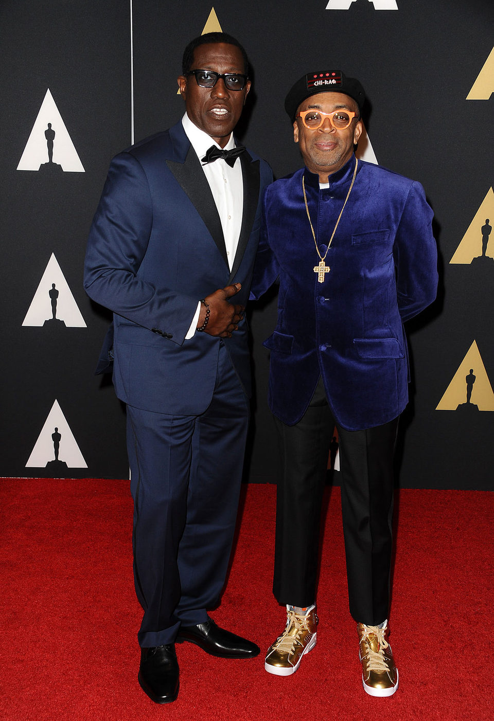 Wesley Snipes y Spike Lee en los Governor's Awards 2015