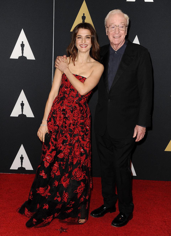 Rachel Weisz y Michael Caine en los Governor's Awards 2015