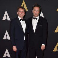 Nicola Giuliano y Paolo Sorrentino en los Governor's Awards 2015