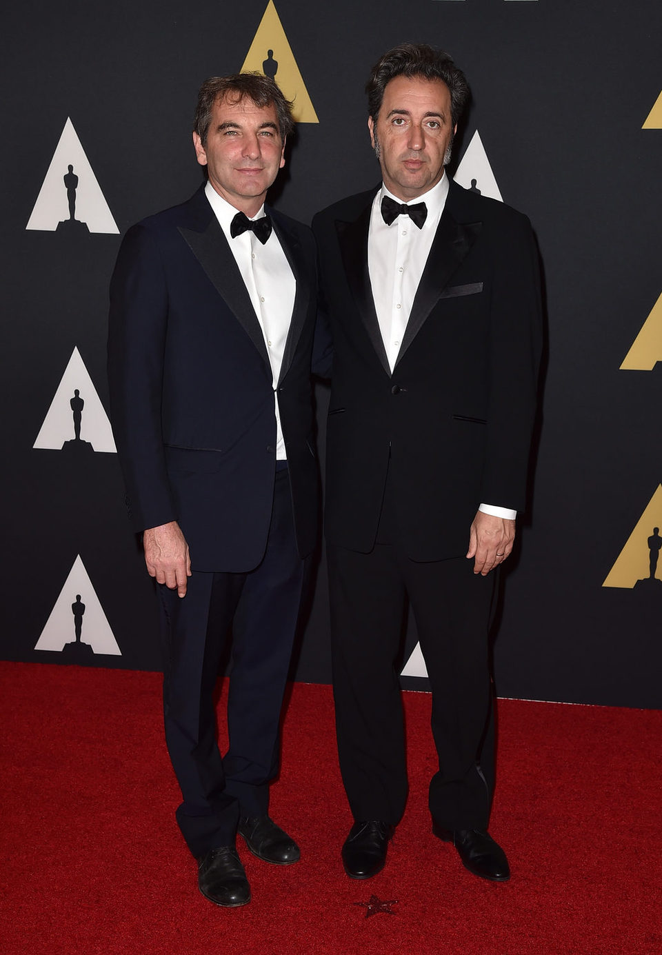 Nicola Giuliano y Paolo Sorrentino en los Governor's Awards 2015