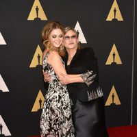 Billie Lourd and Carrie Fisher in Governor's Awards 2015