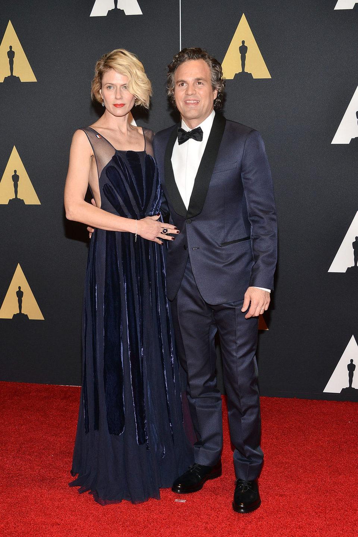 Mark Ruffalo y su esposa en los Governor's Awards 2015