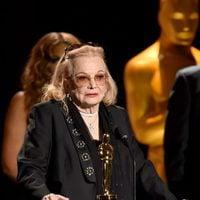 Gena Rowlands acepta el Oscar honorífico en los Governor's Awards 2015