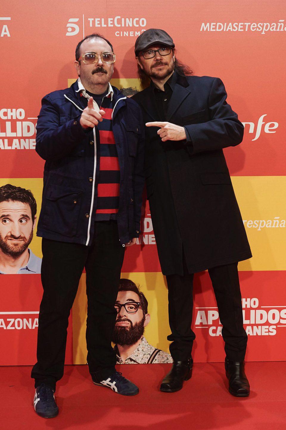 Carlos Areces y Santiago Segura en la Premiere de 'Ocho apellidos catalanes'