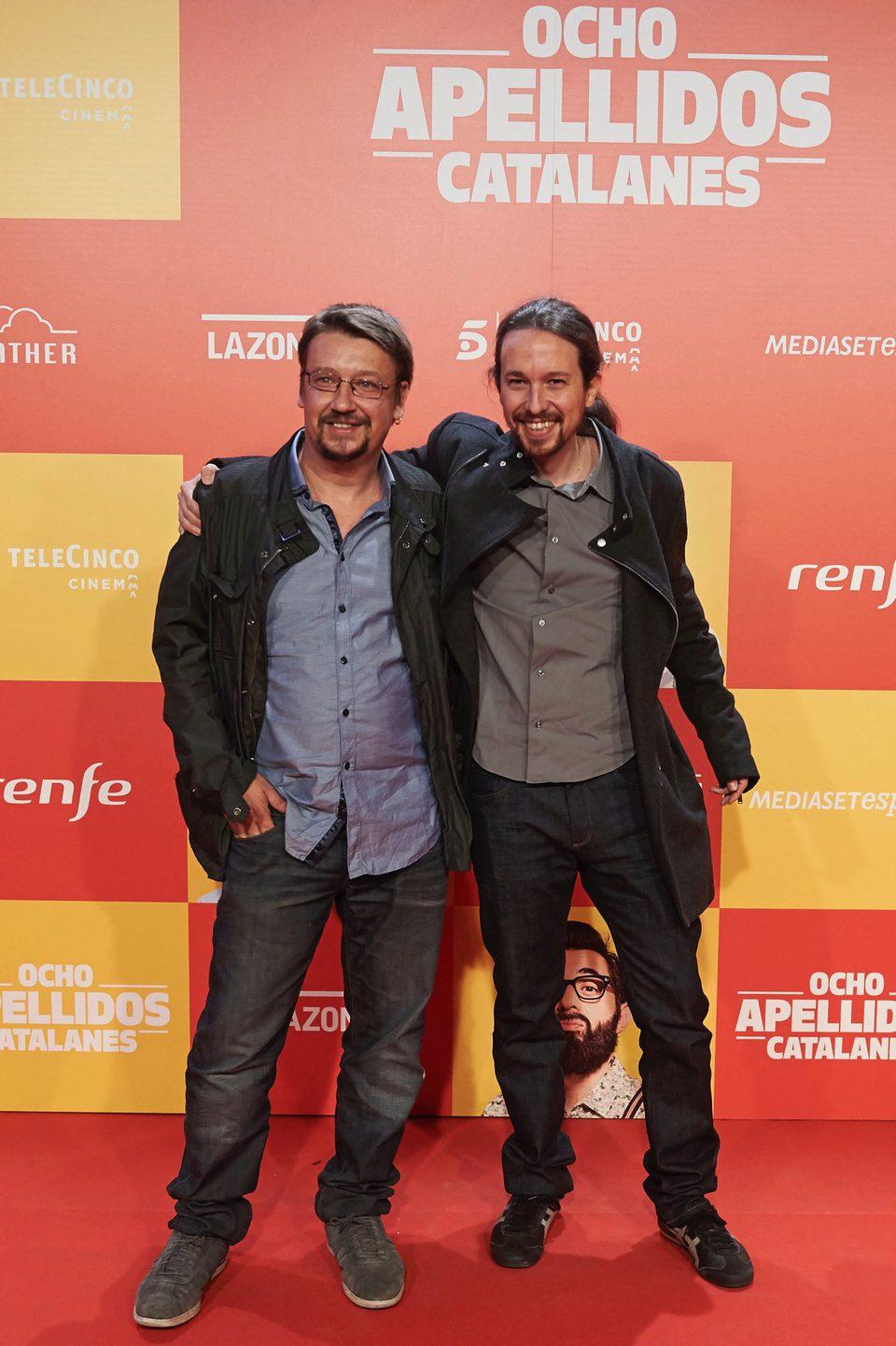 Pablo Iglesias en la Premiere de 'Ocho apellidos catalanes'