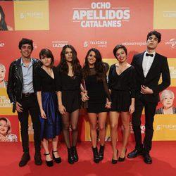 El equipo de 'La llamada' en la Premiere de 'Ocho apellidos catalanes'