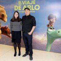 Peter Sohn y Denise Ream acuden a la presentación de 'El Viaje de Arlo' en Madrid