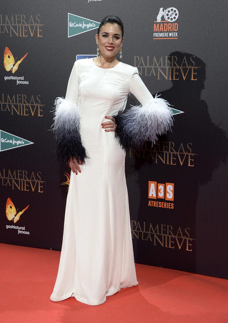 Adriana Ugarte en la premiere de 'Palmeras en la nieve' en Madrid