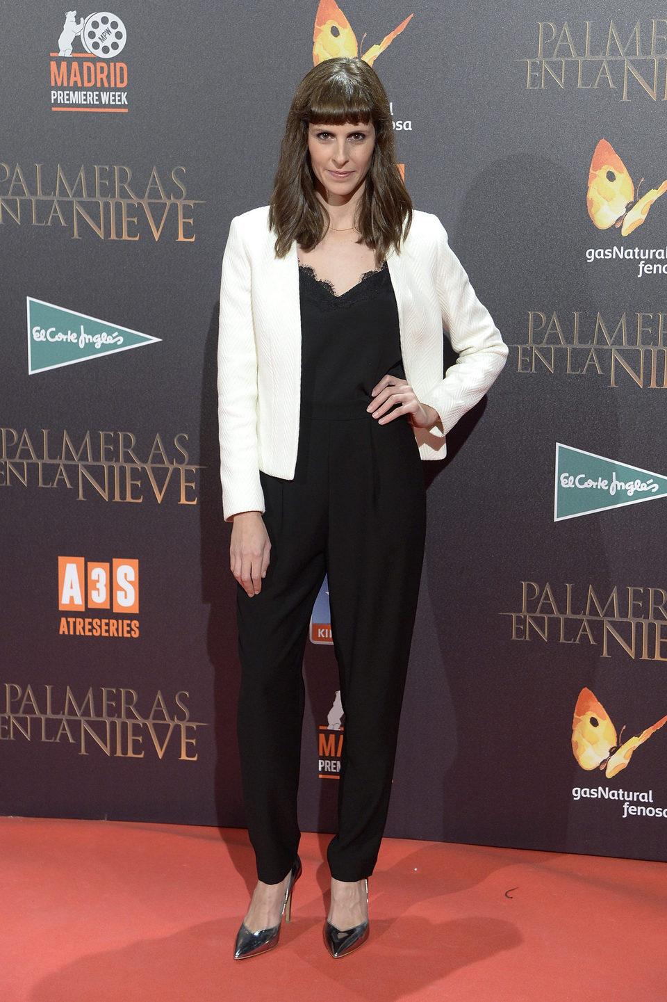 Bárbara Santa-Cruz en la premiere de 'Palmeras en la nieve' en Madrid