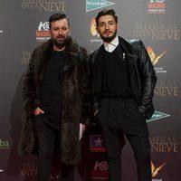 Félix Sabroso en la premiere de 'Palmeras en la nieve' en Madrid