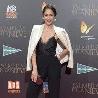 Michelle Calvó en la premiere de 'Palmeras en la nieve' en Madrid