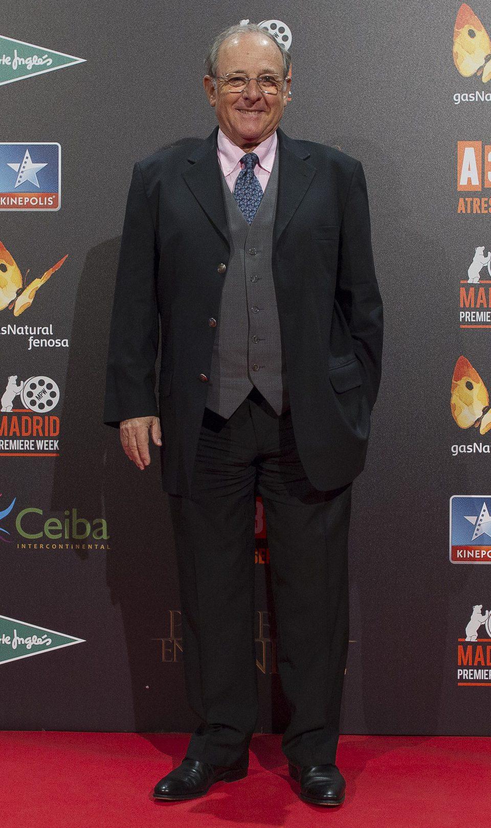 Emilio Gutiérrez Caba en la premiere de 'Palmeras en la nieve' en Madrid